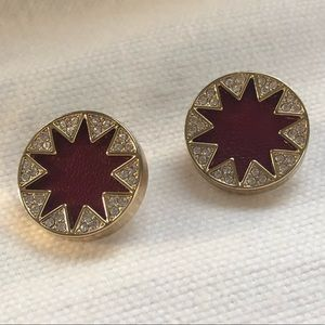 House of Harlow Garnet Earrings